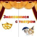 Лэпбук Знакомимся с театром